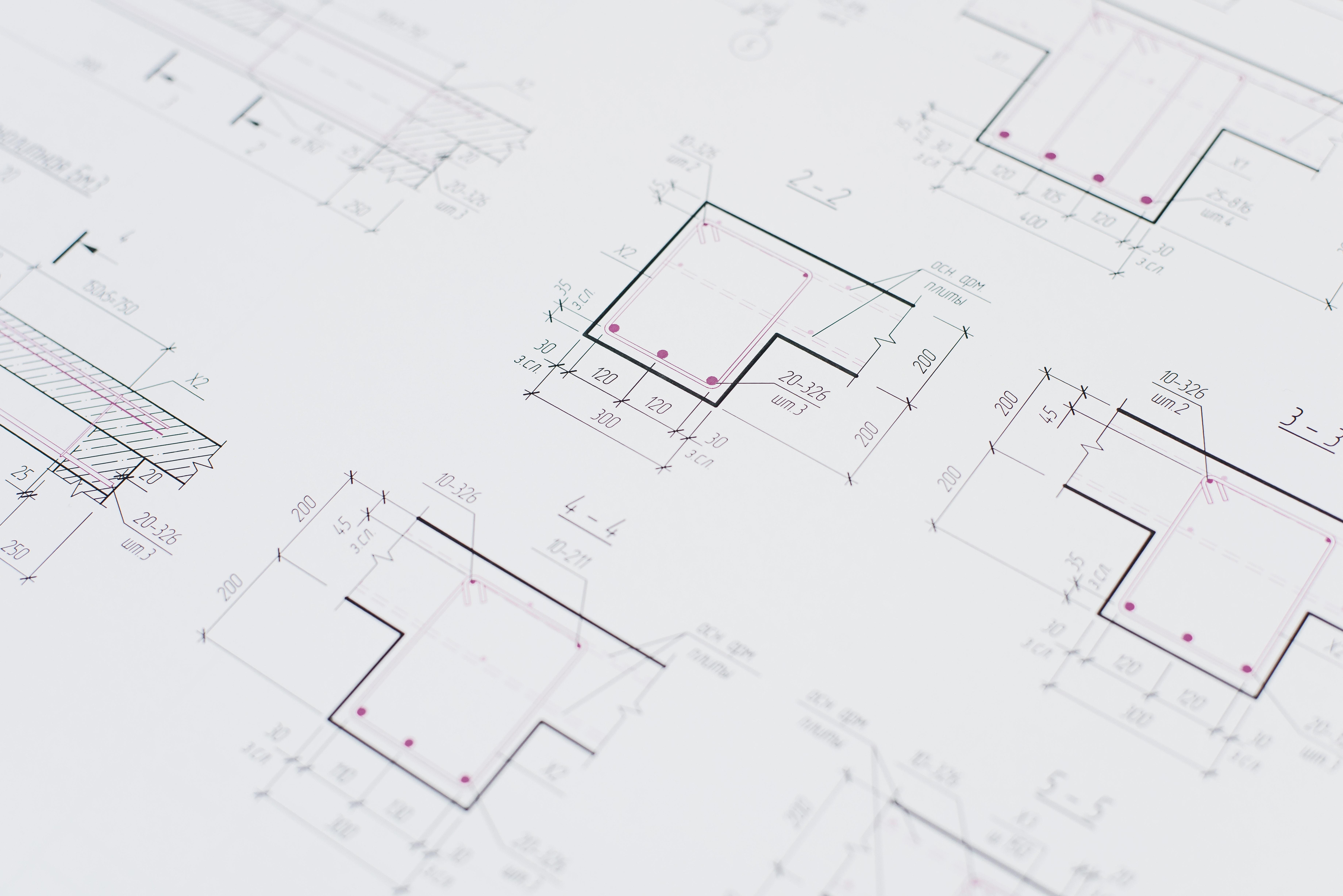 projeto e materiais construção
